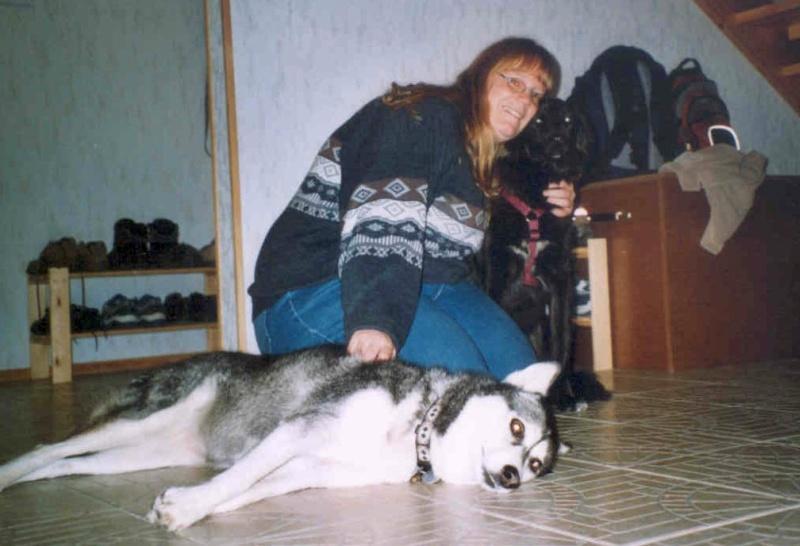2004-12_Lucky_und_Chica_-_bereit_zur_Wanderung