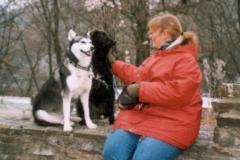 2004-12_Lucky_und_Chica_auf_Burg_Windeck